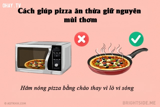 Cách giúp pizza giữ nguyên mùi thơm,mẹo vặt,mẹo nhà bếp,mẹo nấu ăn
