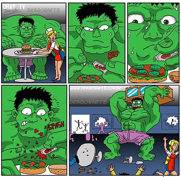 8. Hulk thì lúc nào cũng có thể dễ dàng nổi giận vì lý do 'nhỏ như con thỏ',siêu anh hùng,ảnh hài hước