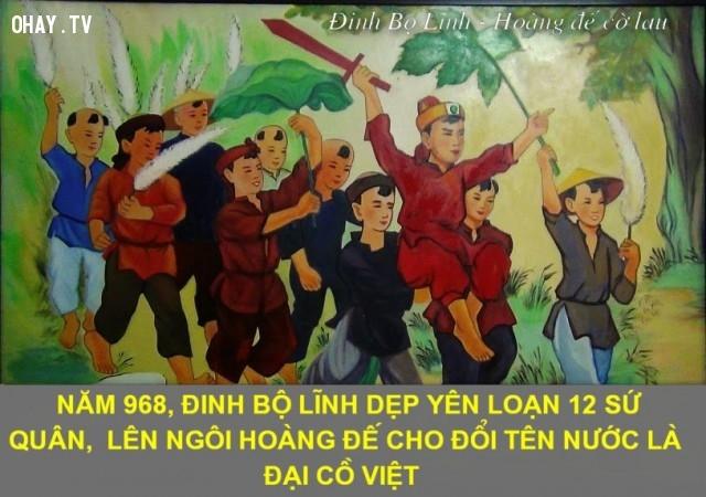 5. Đại Cồ Việt - Tên nước ta thời nhà Đinh,tên nước,quốc hiệu,ý nghĩa
