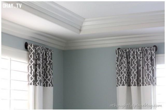 Thay thế rèm cửa đơn giản của bạn với những rèm cửa đầy màu sắc để làm mới nội thất.,trang trí nhà,mẹo trang trí