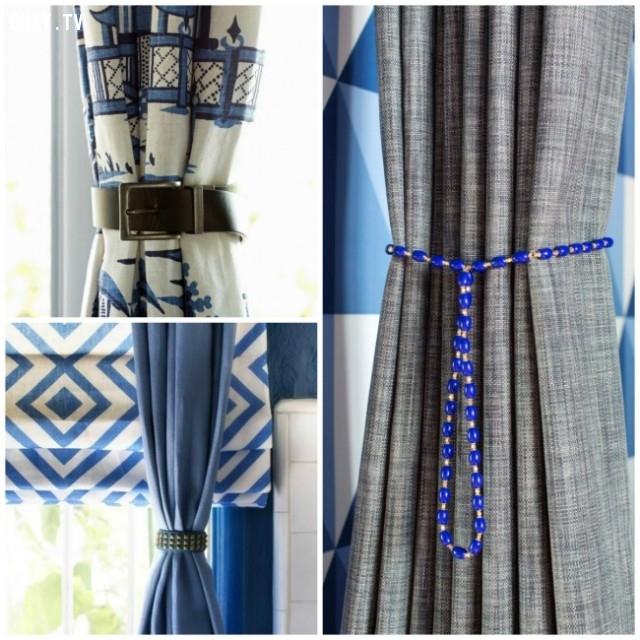 Bạn có thể sáng tạo nhiều loại dây cột rèm cửa khác nhau. Ấn tượng chứ!,trang trí nhà,mẹo trang trí