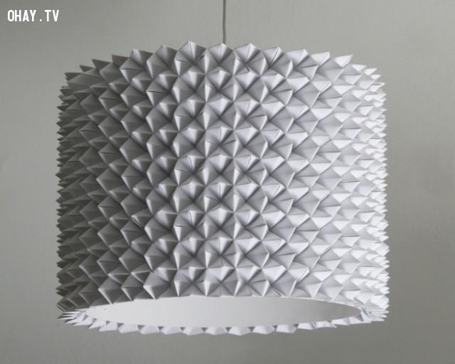 Thay thế bóng đèn cũ của bạn với một cái mới và phong cách theo phong cách xếp giấy origami.,trang trí nhà,mẹo trang trí