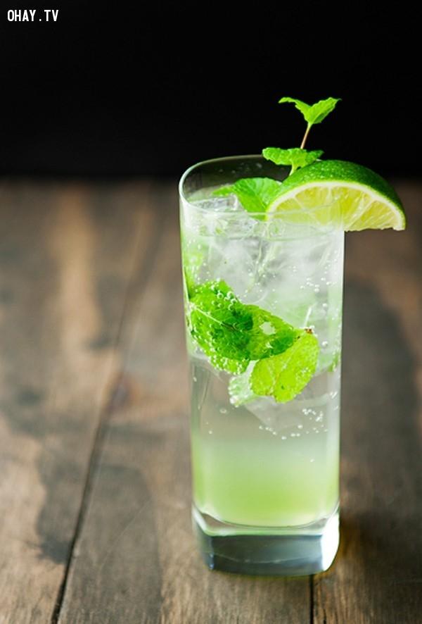 14.Soda dưa leo bạc hà,thức uống mùa hè,thức uống thanh nhiệt,thức uống đẹp da,pha chế thức uống đơn giản