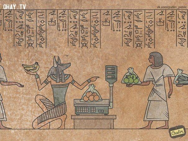 Ai Cập cổ đại vốn huyền bí với nhiều điều rùng rợn trở nên ngộ nghĩnh và... buồn cười hơn bao giờ hết.,ảnh biếm họa,Anton Gudim,những điều thú vị trong cuộc sống