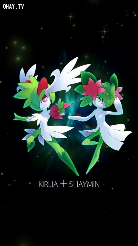 Kirlia + Shaymin,pokemon