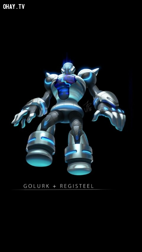 Golurk + Reflisteel,pokemon