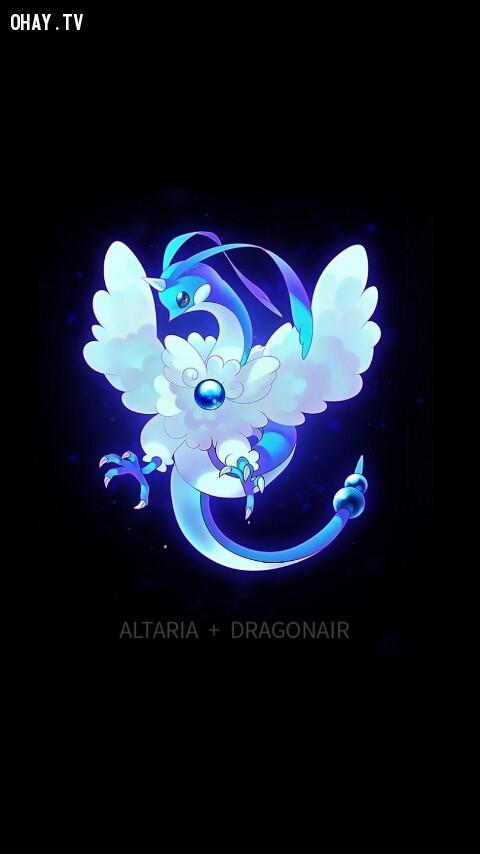 Altaria + Dragonair,pokemon