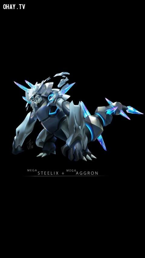 Mega Steelix + Mega Aggron,pokemon
