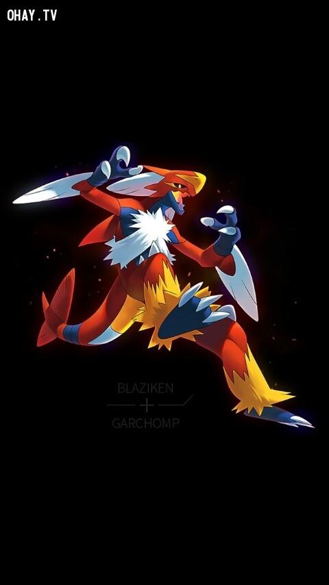 Blaziken + Garchomp,pokemon