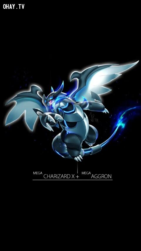 Mega Charizard + Mega Aggron,pokemon