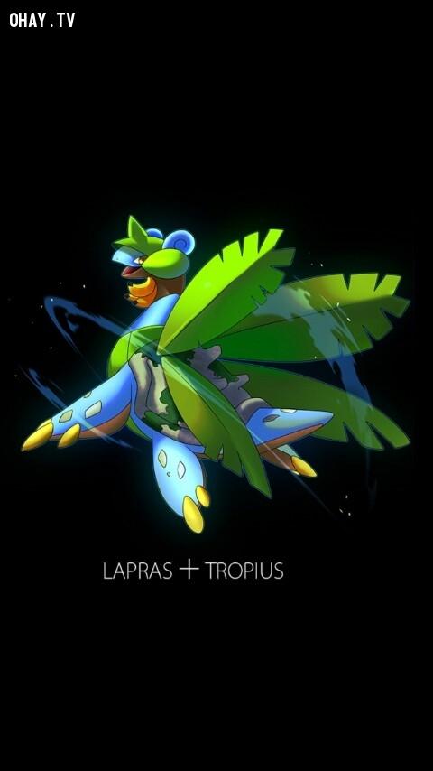 Lapras + Tropius ,pokemon