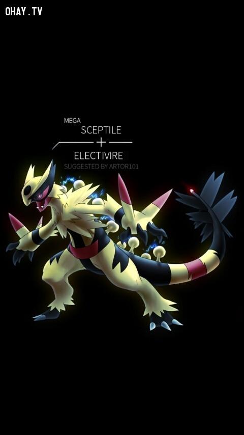 Mega Sceptile + Electivire,pokemon
