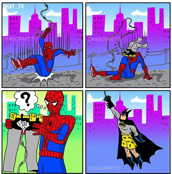5. Lần sau nên chọn mục tiêu dễ bám theo hơn nhé!,siêu anh hùng,người Nhện,ảnh hài hước