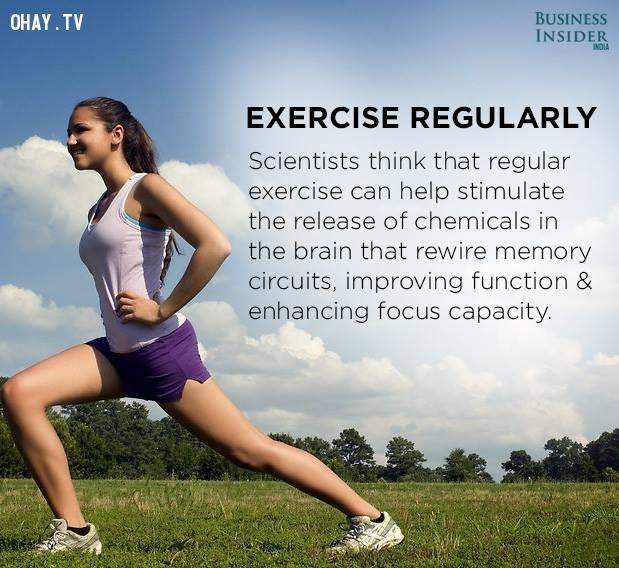 3. Tập thể dục thường xuyên,tập trung,phân tâm,khả năng tập trung,cách làm việc tập trung