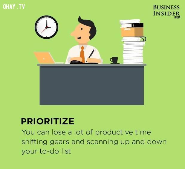 3. Ưu tiên,làm việc hiệu quả,thúc đẩy năng suất,gia tăng năng suất,làm việc năng suất,năng suất cao
