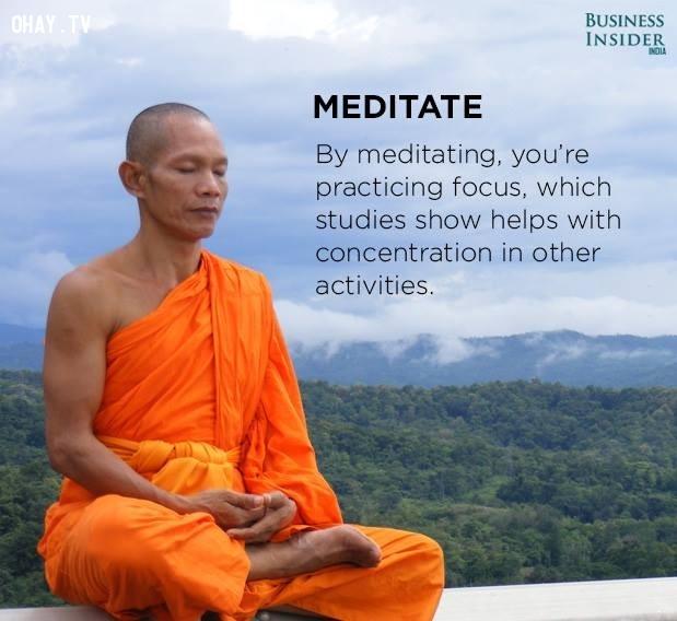 2. Thiền định,tập trung,phân tâm,khả năng tập trung,cách làm việc tập trung