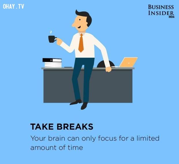 6. Nghỉ giải lao,làm việc hiệu quả,thúc đẩy năng suất,gia tăng năng suất,làm việc năng suất,năng suất cao