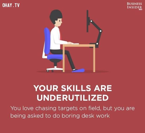 10. Những kỹ năng của bạn không được sử dụng đúng mức,công việc nhàm chán,sự hài lòng với công việc,mức độ hài lòng với công việc,công việc không phù hợp