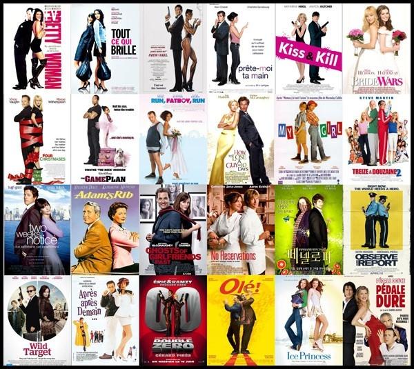 Công thức 5: 2 nhân vật đứng quay lưng vào nhau. Một kiểu tạo dáng đẹp nhất mà các nhà thiết kế poster ưa dùng, đặc biệt là dòng phim hài, lãng mạn.,phim ảnh,poster phim,nghệ thuật quảng cáo