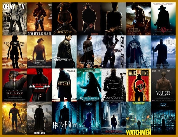 Công thức 10: nhân vật đứng quay lưng. Kiểu poster này thường thấy trong phim hành động, siêu anh hùng. Nhân vật chính trông 'ngầu' hơn rất nhiều với kiểu tạo dáng này.,phim ảnh,poster phim,nghệ thuật quảng cáo