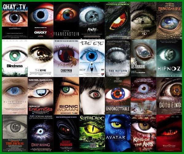 Công thức 11: hình ảnh con mắt. Đơn giản nhưng đặc biệt hiệu quả, nhất là trong thể loại phim kinh dị.,phim ảnh,poster phim,nghệ thuật quảng cáo