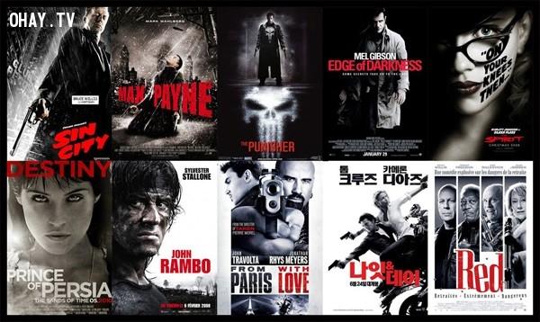 Công thức 4: Nền trắng đen + chữ đỏ. Chọn màu đỏ cho tên phim hay tagline cũng rất được các nhà thiết kế ưa chuộng. Kiểu phim bí ẩn, ly kỳ mang màu sắc u tối thường chọn dạng poster này.,phim ảnh,poster phim,nghệ thuật quảng cáo