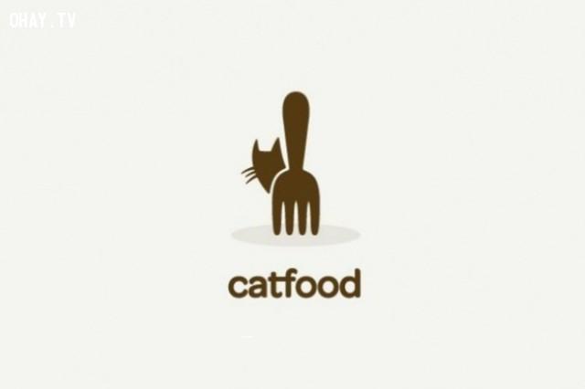 Logo thực phẩm cho mèo quá thông minh phải không?,logo thông minh,logo sáng tạo,ý tưởng thiết kế,logo ý nghĩa