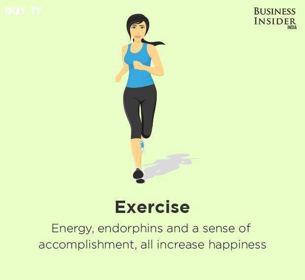 1. Tập thể dục,bí quyết sống hạnh phúc,hạnh phúc,sống hạnh phúc mỗi ngày,sống hạnh phúc,hạnh phúc dài lâu