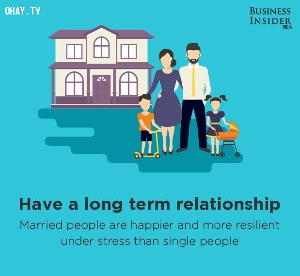 2. Có một mối quan hệ lâu dài,bí quyết sống hạnh phúc,hạnh phúc,sống hạnh phúc mỗi ngày,sống hạnh phúc,hạnh phúc dài lâu
