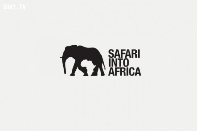 Bạn có nhận ra bản đồ châu Phi?,logo thông minh,logo sáng tạo,ý tưởng thiết kế,logo ý nghĩa
