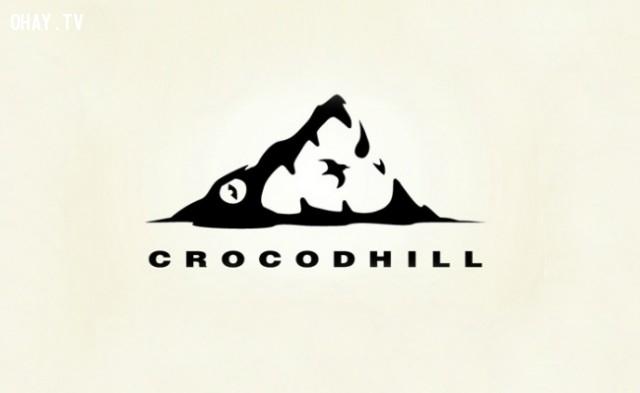 Crocodhill,logo thông minh,logo sáng tạo,ý tưởng thiết kế,logo ý nghĩa