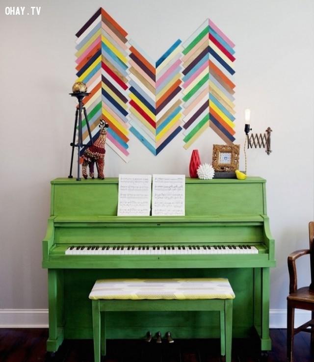 2. Tranh gỗ khảm,trang trí tường nhà,trang trí tường phòng khách,sáng tạo,mẹo vặt,mẹo hay