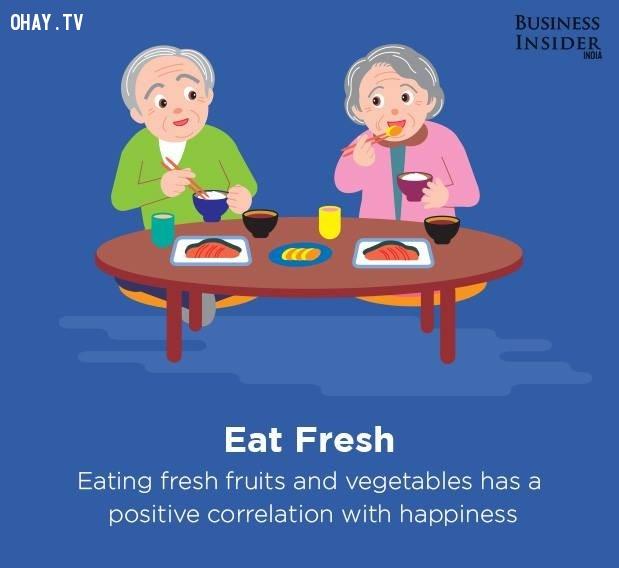 5. Ăn uống lành mạnh,bí quyết sống hạnh phúc,hạnh phúc,sống hạnh phúc mỗi ngày,sống hạnh phúc,hạnh phúc dài lâu