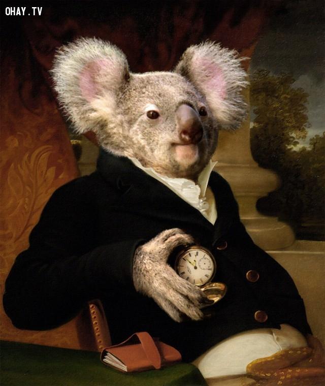 """6. """"Chân dung của Jacob Gerard Koch"""" (bản gốc của Rembrandt Peale),động vật,tranh thời phục hưng,bức họa nổi tiếng"""