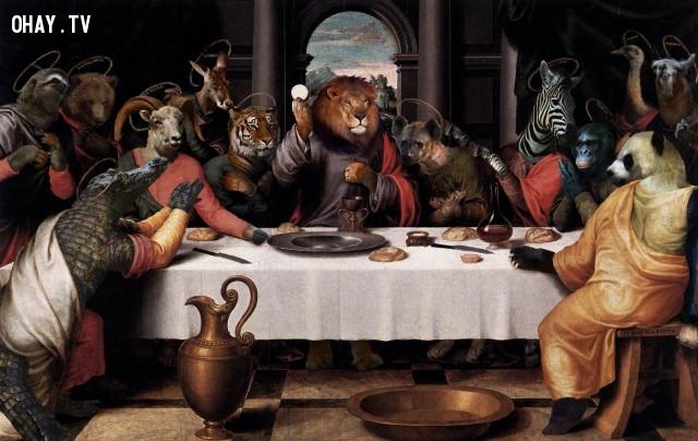 """7. """"Bữa ăn tối cuối cùng"""" (bản gốc của Juan de Juanes),động vật,tranh thời phục hưng,bức họa nổi tiếng"""