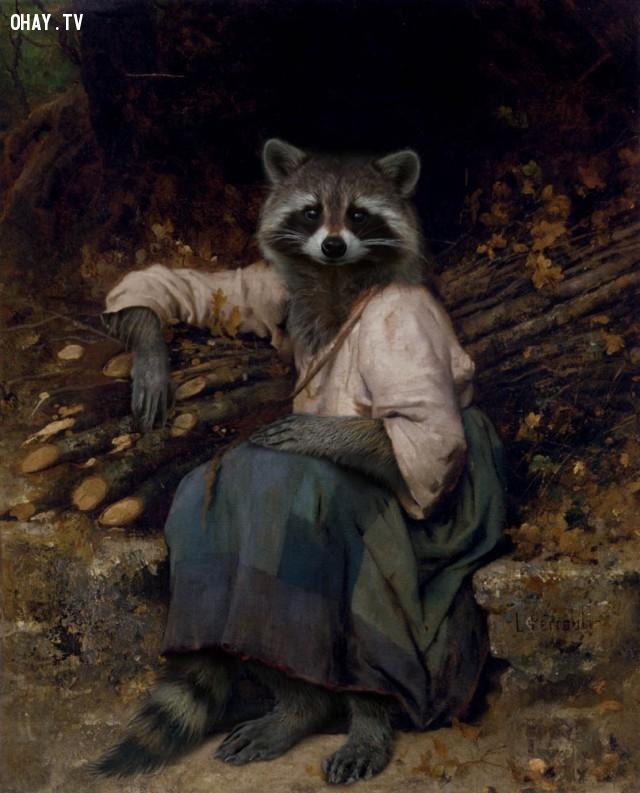 """5. """"Con gái của thợ đốn củi"""" (bản gốc của Leon Bazile Perrault),động vật,tranh thời phục hưng,bức họa nổi tiếng"""