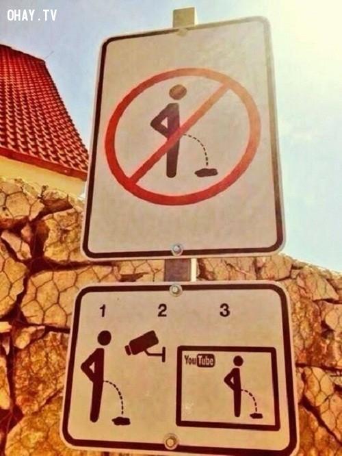 8. Biển cấm thời công nghệ hiện đại,ảnh hài hước,biển cấm