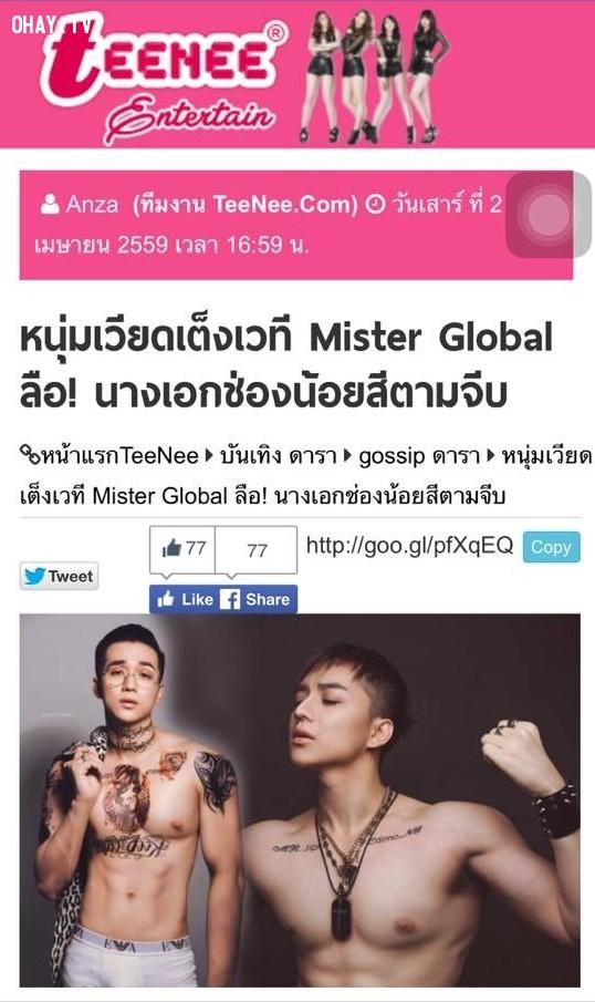 ,Mister Global,Hữu Vi,Nguyễn Văn Sơn,Jipi,Phạm Hương,Thái lan