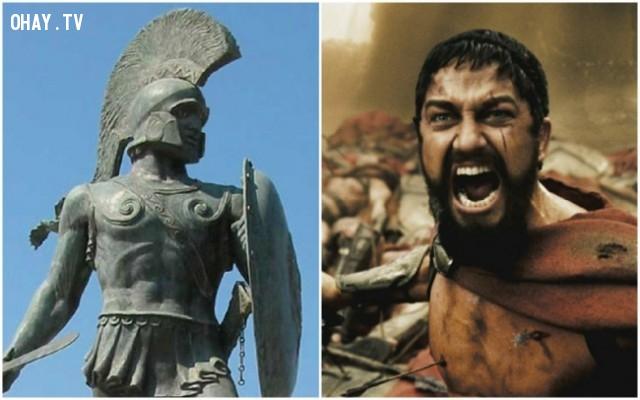 "4. Vua Leonidas I trong bộ phim ""300"" – diễn viên: Gerard Butler,"