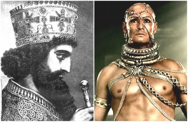 "1. Xerxes I trong bộ phim ""300"" – diễn viên: Rodrigo Santoro,"