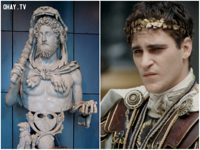 """5. Hoàng đế Commodus trong bộ phim """"Võ sĩ giác đấu"""" – diễn viên: Joaquin Phoenix,"""