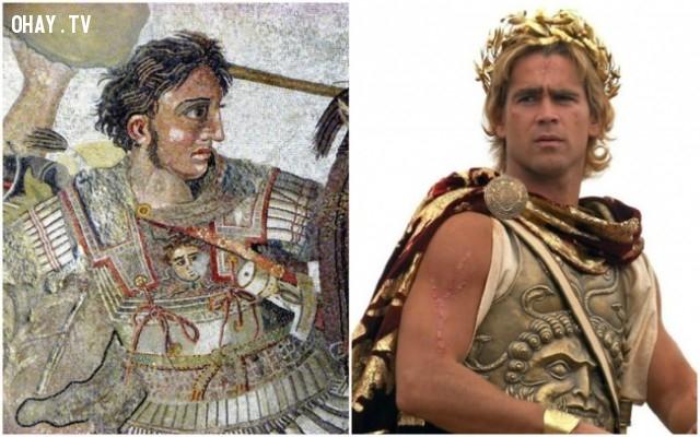 "2. Alexander III của Macedon ( Alexander Đại đế ) trong bộ phim ""Alexander"" – diễn viên: Colin Farrell,"