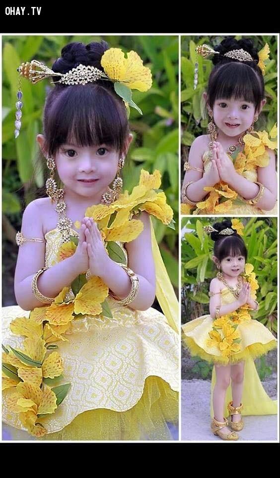 5. Phasin của Thái Lan,trang phục truyền thống,việt nam,nhật bản,ấn độ,hàn quốc,đáng yêu,bé gái