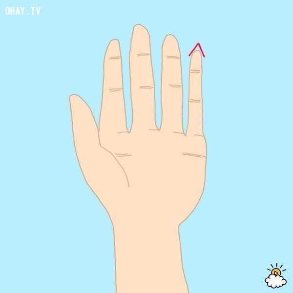 Kiểu 7: Đầu ngón tay út nhọn lên,trắc nghiệm,đoán tính cách
