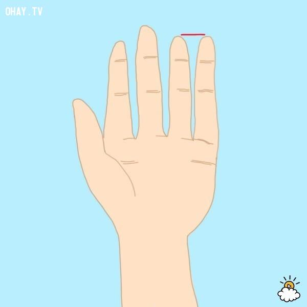 Kiểu 5: Ngón tay út cao bằng ngón tay đeo nhẫn,trắc nghiệm,đoán tính cách