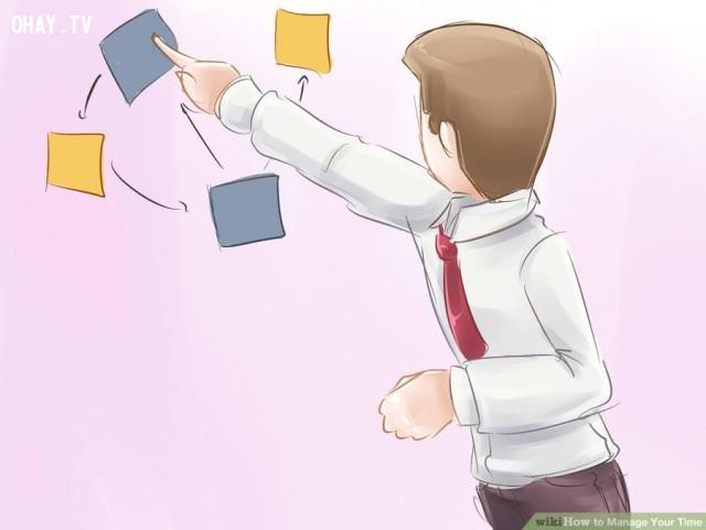 6. Đánh giá lại danh sách làm việc.,thiếu thời gian,quản lý thời gian