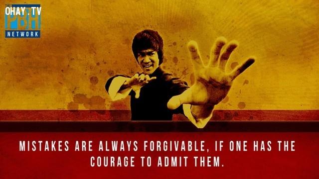 """""""Mọi lỗi lầm có thể tha thứ, nếu mọi người biết cách chấp nhận chúng."""",câu nói của Lí Tiểu Long,võ thuật lí tiểu long,phong cách sống,câu nói ý nghĩa"""