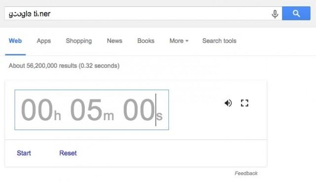 13. Sử dụng Google Timer để làm đồng hồ đếm giờ,Google Seach
