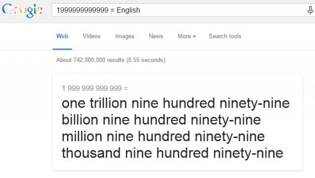 """5. Đọc những con số """"khủng"""" bằng chữ,Google Seach"""