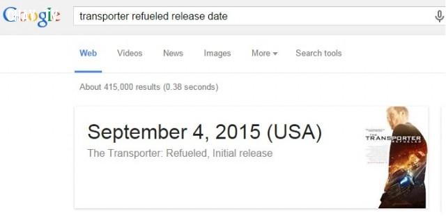 18. Tìm kiếm thời gian công chiếu bộ phim bạn yêu thích,Google Seach